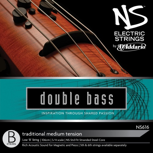 NS Design NS616 Traditional Double Bass Low 'B' String