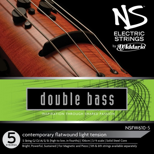 NS Design NSFW610 Contemporary Double Bass 5 String Set (Low 'B')