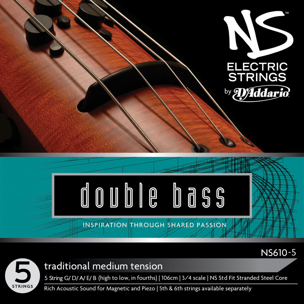 NS Design NS610 Traditional Double Bass 5 String (Low 'B')