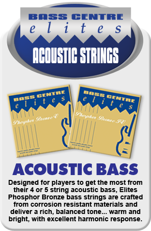 Elites Phosphor Bronze Acoustic Bass Strings