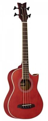 Ortega D-Walker Electro Acoustic Bass - Red