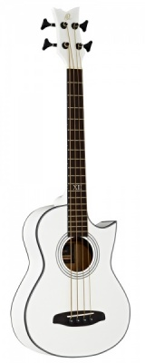 Ortega D-Walker Electro Acoustic Bass - White